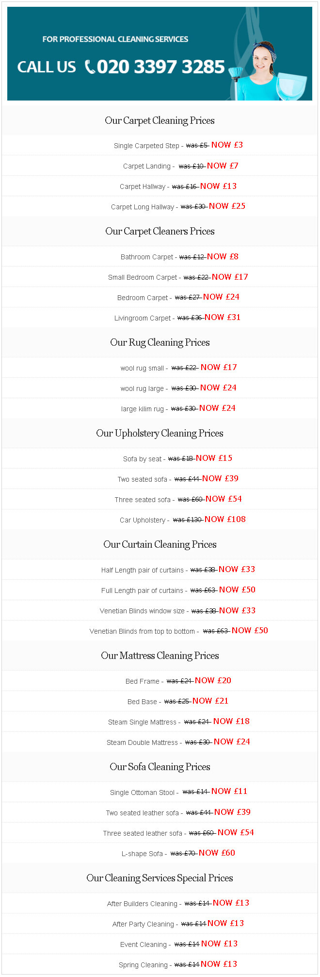 Check Out our Budget Friendly Prices Now